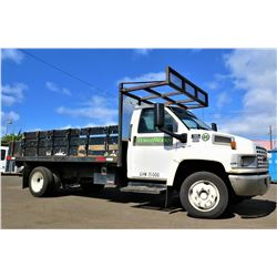 05 GMC C4500 Flatbed Truck 65,374 Miles (Runs & Drives See Video)