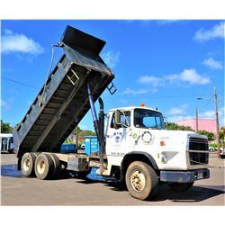 1990 Ford L9000 Tandem Axle Dump Truck (Runs Drives Dumps See Video)