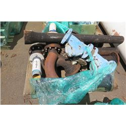 Contents of Pallet: Metal Pipe Fittings