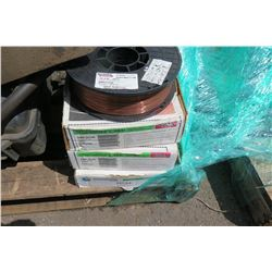 Contents of Pallet: Miller Wire Feeder, Super Arc L-56 Mig Wire, Filters, etc