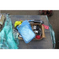 Contents of Pallet: Spare Parts, Alternator, Starter, etc