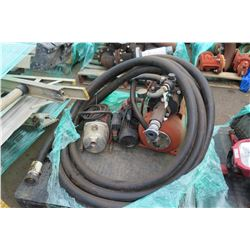 Contents of Pallet: Pumps, Hoses (Untested, Functionality Unknown, Seller Reports May Need Repair)