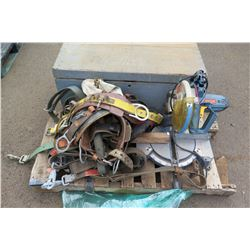 Contents of Pallet: Misc. Tools & Harnesses (all in need of  repair)