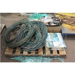 Contents of Pallet: Sprinkler Watering Kit, Wire, etc