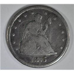 1875-CC 20 CENT PIECE VG
