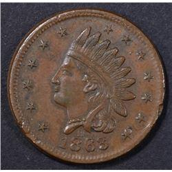 1863-H NOT ONE CENT CIVIL WAR TOKEN XF
