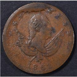 1863 GEORGE WASHINGTON EXCHANGE TOKEN