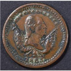 1863 GEORGE WASHINGTON PEACE FOREVER TOKEN