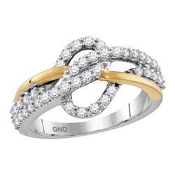 0.62 CTW Diamond Woven Ring 10kt Two-tone Gold