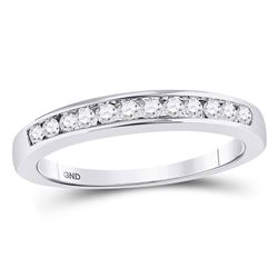 0.25 CTW Diamond Wedding Channel Set Ring 14kt White Gold