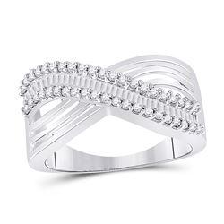 0.50 CTW Diamond Strand Crossover Ring 10kt White Gold