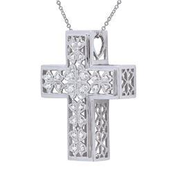 0.13 CTW Diamond Necklace 18K White Gold
