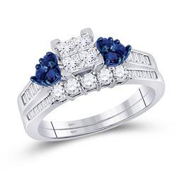 0.76 CTW Diamond Bridal Wedding Engagement Ring 10kt White Gold