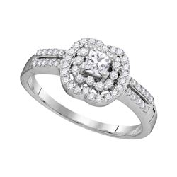 0.50 CTW Diamond Solitaire Bridal Wedding Engagement Ring 10kt White Gold