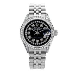 Rolex Pre-owned 36mm Mens String Black Dial Stainless Steel