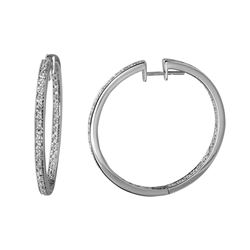 1.77 CTW Diamond Earrings 14K White Gold