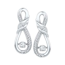 0.33 CTW Diamond Moving Twinkle Fashion Earrings 10kt White Gold