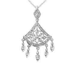 0.29 CTW Diamond Necklace 14K White Gold