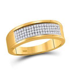 0.25 CTW Diamond Wedding Ring 10kt Yellow Gold