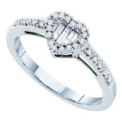 0.15 CTW Diamond Heart Cluster Ring 14kt White Gold