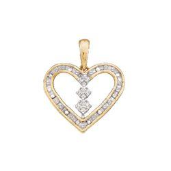 0.15 CTW Diamond Heart Pendant 10kt Yellow Gold