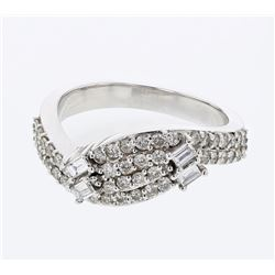0.67 CTW Diamond Ring 18K White Gold
