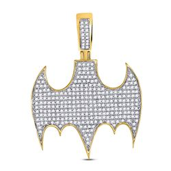 0.85 CTW Diamond Statement Charm Pendant 10kt Yellow Gold
