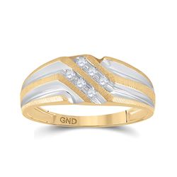 0.14 CTW Diamond Wedding Ring 10kt Two-tone Gold