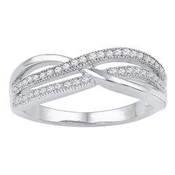 0.20 CTW Diamond Crossover Ring 10kt White Gold