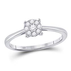 0.14 CTW Diamond Cluster Ring 10kt White Gold