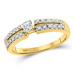 0.25 CTW Diamond Solitaire Bridal Wedding Engagement Ring 10kt Yellow Gold