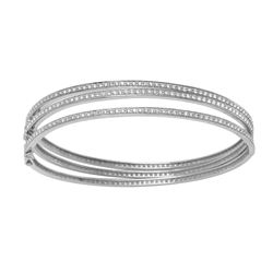 0.98 CTW Diamond Bangle 14K White Gold