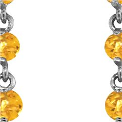 Genuine 23 ctw Citrine Earrings 14KT White Gold