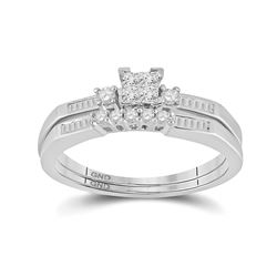 0.32 CTW Diamond Bridal Wedding Engagement Ring 10kt White Gold