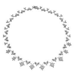 4.57 CTW Diamond Necklace 18K White Gold