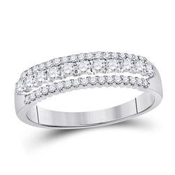 0.49 CTW Diamond Classic Anniversary Ring 14kt White Gold