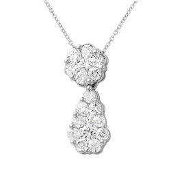 2 CTW Diamond Necklace 14K White Gold