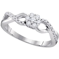 0.25 CTW Diamond Cluster Ring 10kt White Gold