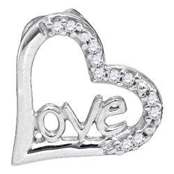 0.05 CTW Diamond Heart Pendant 10kt White Gold