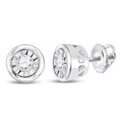0.11 CTW Diamond Solitaire Stud Earrings 10kt White Gold