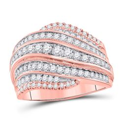 1.01 CTW Diamond Fashion Ring 14kt Two-tone Gold