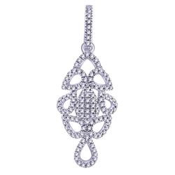 0.17 CTW Diamond Pendant 14K White Gold