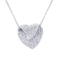 1.18 CTW Diamond Necklace 14K White Gold