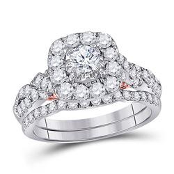 1.52 CTW Diamond Bridal Wedding Engagement Ring 14kt Two-tone Gold