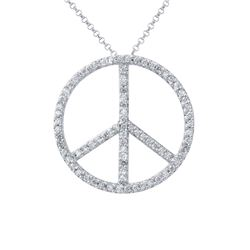 0.90 CTW Diamond Necklace 14K White Gold