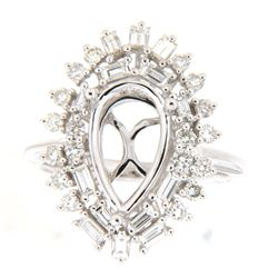 1.07 CTW Diamond Semi Mount Ring 14K White Gold