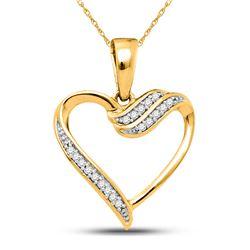 0.06 CTW Diamond Heart Pendant 10kt Yellow Gold