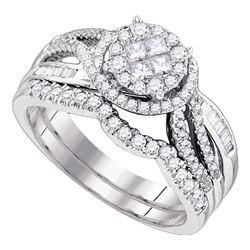 0.75 CTW Diamond Bridal Wedding Engagement Ring 14kt White Gold