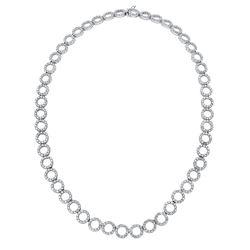 12.86 CTW Diamond Necklace 18K White Gold