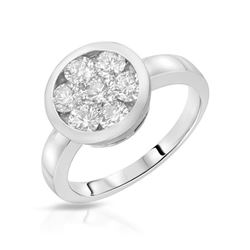0.25 CTW Diamond Ring 14K White Gold